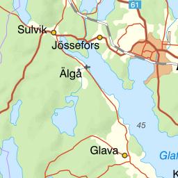 Karta Arvika Kommun.Karta Over Fiskeomradet Ovre Gla Buvattnet Grannsjon Mfl