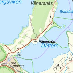 Karta Vanersborg.Karta Over Fiskeomradet Lillan Vanersborg