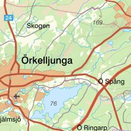 örkelljunga kommun karta