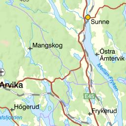 Karta Arvika Kommun.Karta Over Fiskeomradet Glafsfjorden